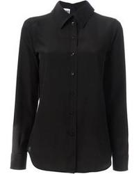 Женская черная классическая рубашка от Moschino