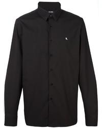 Мужская черная классическая рубашка от Raf Simons
