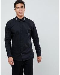 Мужская черная классическая рубашка от Selected Homme