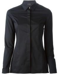 Женская черная классическая рубашка от Versace