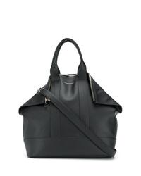 Мужская черная кожаная большая сумка от Alexander McQueen