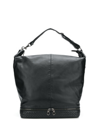 Мужская черная кожаная большая сумка от Bottega Veneta