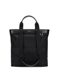 Мужская черная кожаная большая сумка от Dolce & Gabbana