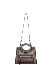 Черная кожаная большая сумка от Fendi