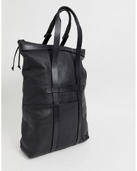 Мужская черная кожаная большая сумка от G Star