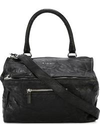 Черная кожаная большая сумка от Givenchy