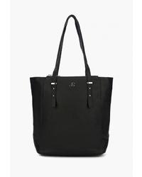 Черная кожаная большая сумка от Jane's Story