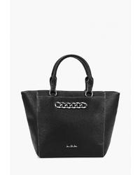 Черная кожаная большая сумка от Jane Shilton