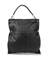 Черная кожаная большая сумка от Johnny