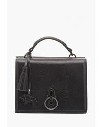 Черная кожаная большая сумка от Labbra
