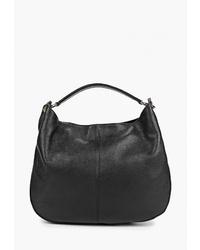 Черная кожаная большая сумка от LAMANIA