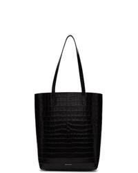 Черная кожаная большая сумка от Mansur Gavriel