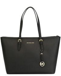 Черная кожаная большая сумка от MICHAEL Michael Kors