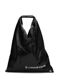 Черная кожаная большая сумка от MM6 MAISON MARGIELA