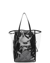 Черная кожаная большая сумка от Moncler Genius