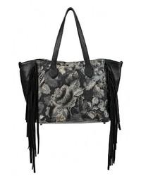 Черная кожаная большая сумка от Moronero