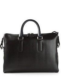 Мужская черная кожаная большая сумка от Paul Smith