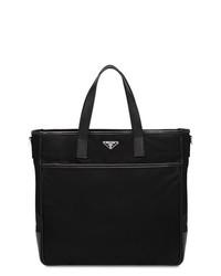 Мужская черная кожаная большая сумка от Prada