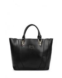 Черная кожаная большая сумка от Sabellino