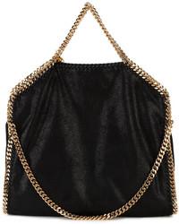 Черная кожаная большая сумка от Stella McCartney