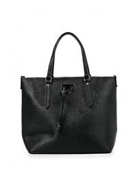 Женская черная кожаная большая сумка от Tom & Eva