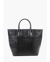 Черная кожаная большая сумка