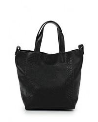 Черная кожаная большая сумка от Vera Victoria Vito
