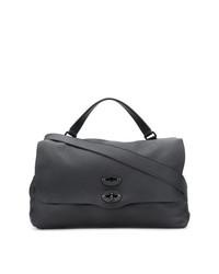 Черная кожаная большая сумка от Zanellato