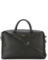 Мужская черная кожаная дорожная сумка от Dolce & Gabbana