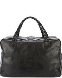 Мужская черная кожаная дорожная сумка от Golden Goose Deluxe Brand