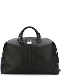 Мужская черная кожаная дорожная сумка от Philipp Plein