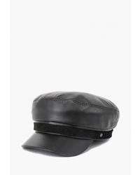 Мужская черная кожаная кепка от Antar