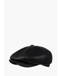 Мужская черная кожаная кепка от Denkor