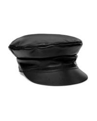 Женская черная кожаная кепка от Lack of Color