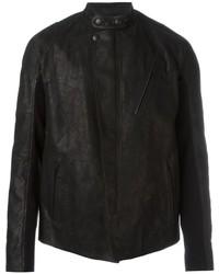Мужская черная кожаная косуха от Alexander McQueen