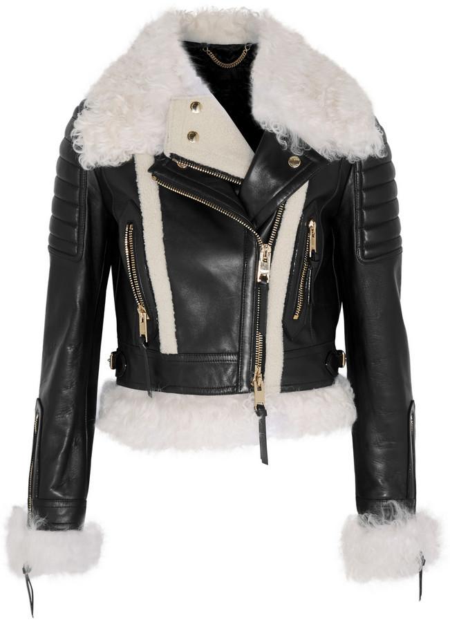 4d41361af041 Женская черная кожаная косуха от Burberry   Где купить и с чем носить