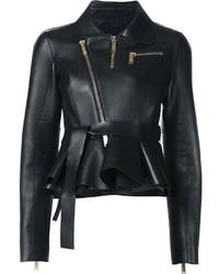 Женская черная кожаная косуха от Dsquared2