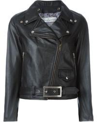 Женская черная кожаная косуха от Golden Goose Deluxe Brand