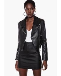 Женская черная кожаная косуха от Ivyrevel