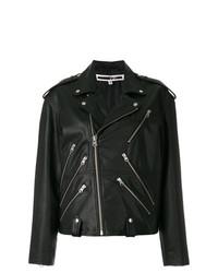Женская черная кожаная косуха от McQ Alexander McQueen