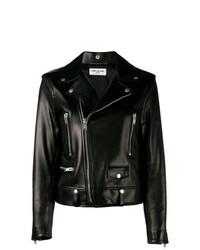 Женская черная кожаная косуха от Saint Laurent