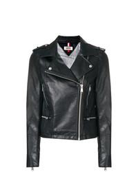Женская черная кожаная косуха от Tommy Jeans