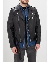 Мужская черная кожаная косуха от Urban fashion for men