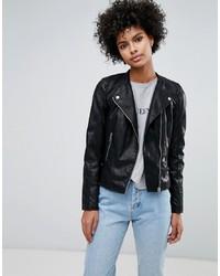 Женская черная кожаная косуха от Vero Moda
