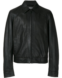Черная кожаная куртка-рубашка