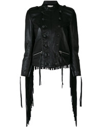 Женская черная кожаная куртка от Faith Connexion