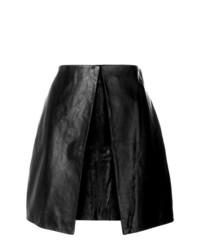 Черная кожаная мини-юбка от Aalto