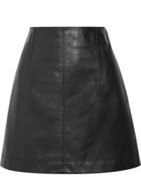 Черная кожаная мини-юбка от Chloé