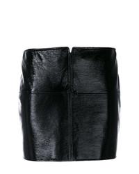 Черная кожаная мини-юбка от Courreges