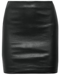 Черная кожаная мини-юбка от The Row